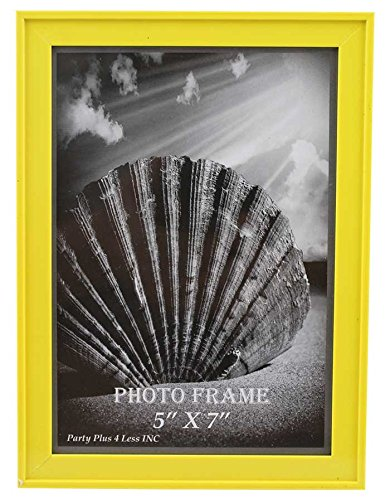 """Yellow Plastic 5"""" x 7"""" Picture Frame"""