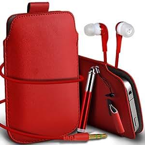 Nokia Lumia 900 premium protección PU ficha de extracción de deslizamiento del cable En caso de la cubierta de la piel de la bolsa del bolsillo, mini capacitiva lápiz óptico retráctil y Coincidencia 3.5MM Auriculares de auriculares auriculares Red por Spyrox