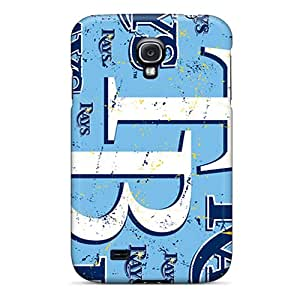 Bumper Hard Phone Covers For Samsung Galaxy S4 With Unique Design Trendy Tampa Bay Rays Series JamieBratt