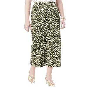 Jessica London Women's Plus Size Classic Cotton Denim Long Skirt