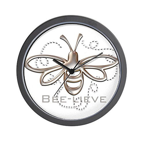 "CafePress Bee-Lieve Unique Decorative 10"" Wall Clock from CafePress"