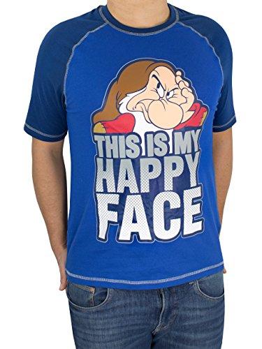 Disney Brummbär Herren Schneewittchen Brummbär T-Shirt Grumpy