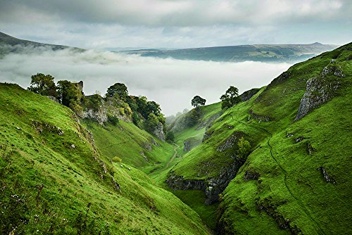 Photos.com by Getty Images Peveril Castle And Cave Dale, Derbyshire Poster Print, 17