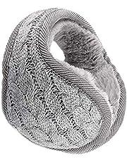 OFKPO Winter Knit Foldable Adjustable Ear Warmer Earmuffs Ear Winter Warmers for Men Women (Grey)