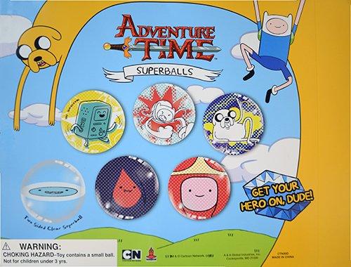 Adventure Time Superballs. Set of 12 Large size 45mm - 2 inch diameter