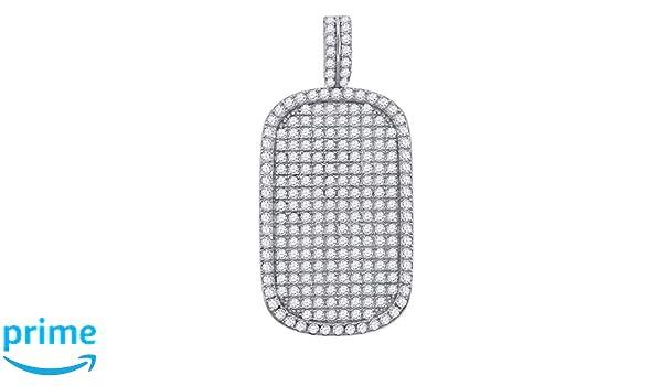 FB Jewels 925 Sterling Silver Womens Round CZ Key Cluster Fashion Charm Pendant