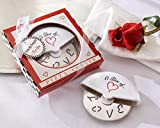 100 ''A Slice of Love'' Stainless-Steel Pizza Cutter in Miniature Pizza Box