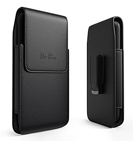 iPhone 6 Belt Clip Case, De-Bin Vertical Leather Premium Apple iPhone 6 Holster Case with Clip and Belt Loops (Fits iPhone 6 4.7