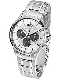 Jacques Lemans Men's Steel Bracelet & Case Quartz Chronograph Watch 1-1542M
