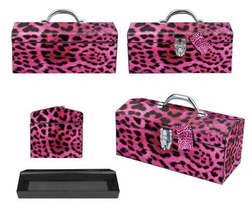 Sainty Art Works 24-033 Art Deco Leopard Tool Box, Pink by Sainty Art Works (Image #1)