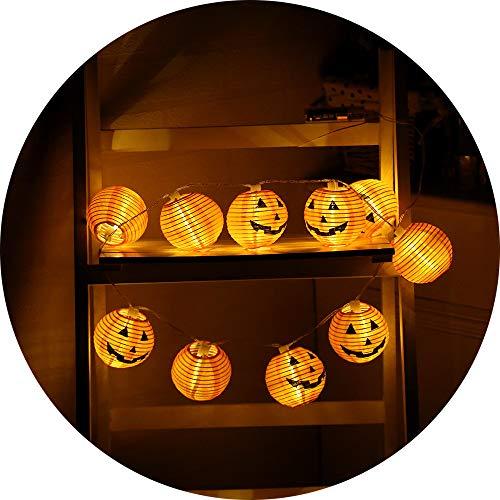 Birdfly 10/20 pcs Holloween Lantern Halloween Pumpkin LED String Lights Halloween Decoration Lights (20pcs)]()