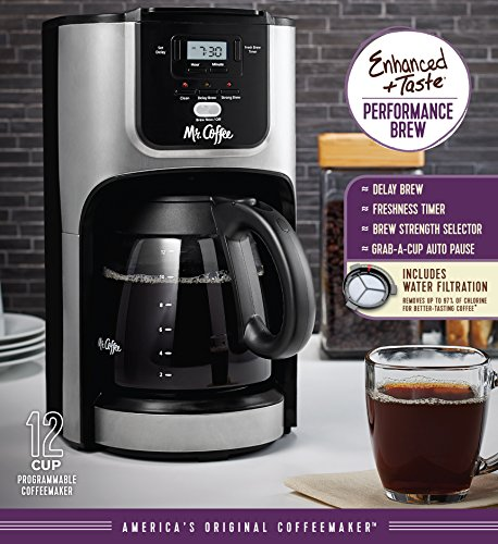 Mr Coffee Pro Coffee Maker : Mr. Coffee 12-Cup Programmable Coffee Maker with Brew Strength Selector