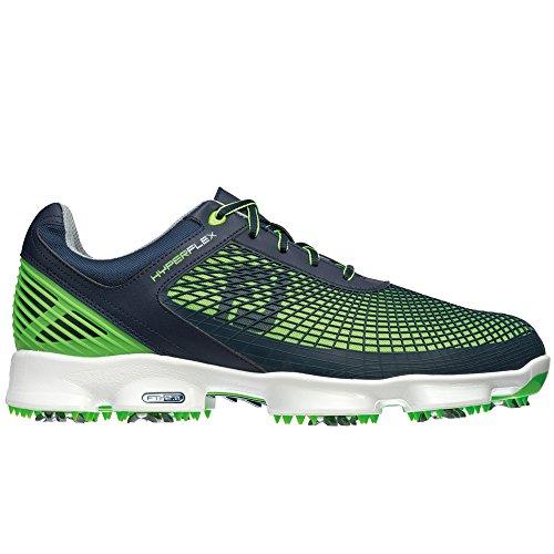 Men's Footjoy Hyperflex Golf Spike Navy/Electric Green Si...
