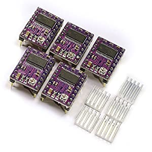 [3D CAM] 5 PCS DRV8825 StepStick Stepper Motor Drivers for 3D Printer Electronics, CNC Machine or Robotics