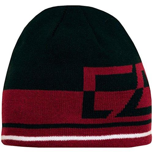 2015 Cutter & Buck Reversible Fleece Winter Knitted Mens Golf Beanie Hat Black/Red