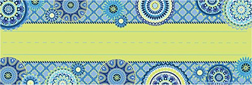 Eureka Blue Harmony Teacher Supplies Self-Adhesive Student Nametags, 36 pcs, 9.5'' x 3.25''