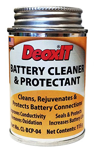 (Caig DeoxIT Battery Cleaner & Protectant with Brush Lid, 118 g (CL-BCP-04))