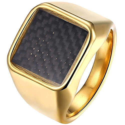 The One Ring Style Stainless Steel Ring Gold - 1
