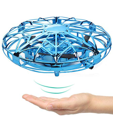 (Children's flying toy, DAXHU remote control Quadcopterv interactive infrared sensor remote control helicopter toy, 360° rotating and flashing LED lights, suitable for boys and girls children's gifts)