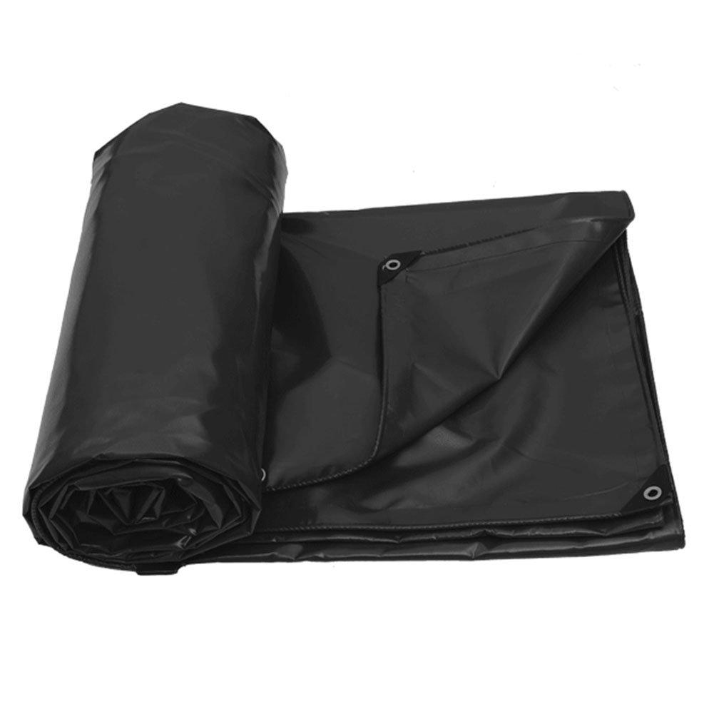 ZEMIN オーニング サンシェード ターポリン 防水 日焼け止め シート 布 テント スプライス 耐久性のある 厚い ポリエステル、 5色、 500G/7サイズあり (色 : ブラック, サイズ さいず : 2X3M) B07CYQWCRY 2X3M|ブラック ブラック 2X3M