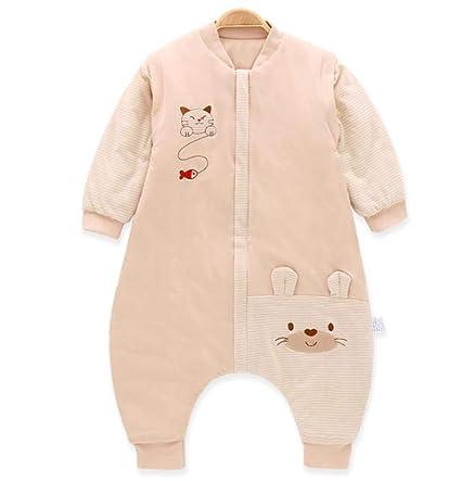 1 saco de dormir con funda desmontable, manta para bebé, talla M marrón marrón