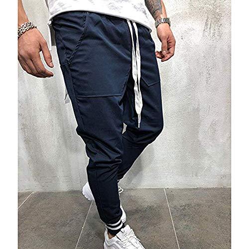 Hop Pantaloni Blu Huateng Uomo Jogging Da Hip Sportivi Larghi M 3xl Scuro Casual 0UqwUd1