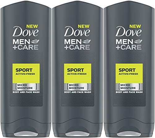 Dove Men+Care Sport Active+Fresh Body Wash, 13.5 Ounce / 400 Ml (Pack of 3) International Version Active Sport Body Wash