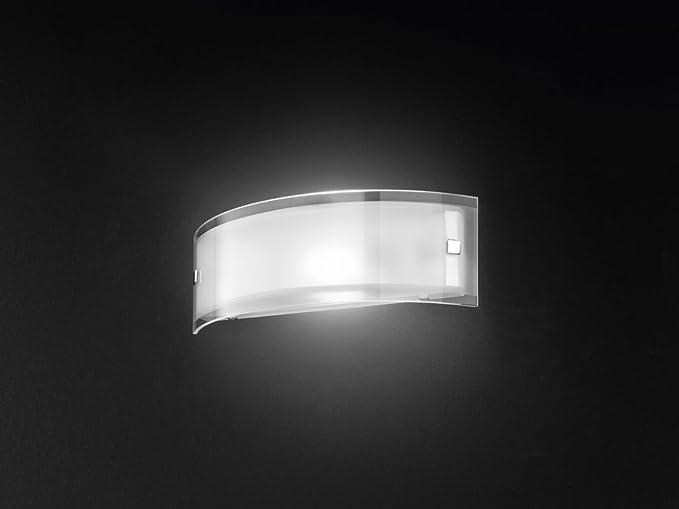 Applique vetro trasparente e satinato forma curva: amazon.it