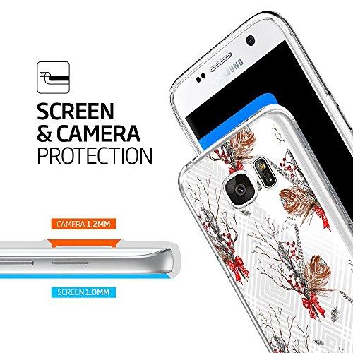 Custodia Met Galaxy Tpu Sottile Fioritura Ultra Modello S7 Edge Silicone Caso qq6w4Br