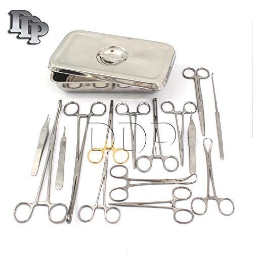 DDP CANINE SPAY PACK | 19 INSTRUMENTS+BOX VETERINARY INSTRUMENTS by DDP
