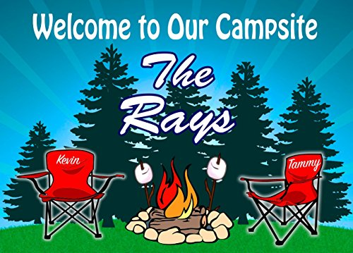 Campground Welcome Campfire Chairs Camper product image
