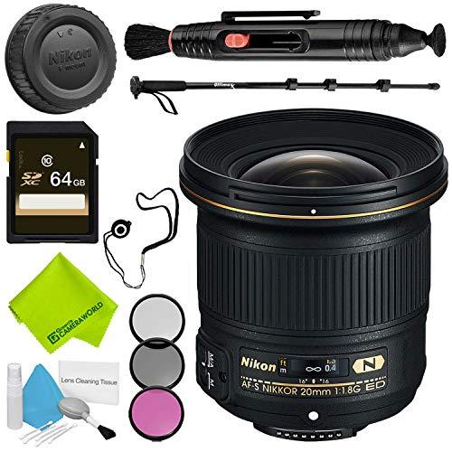 Nikon AF-S NIKKOR 20mm f/1.8G ED Lens Advanced Bundle