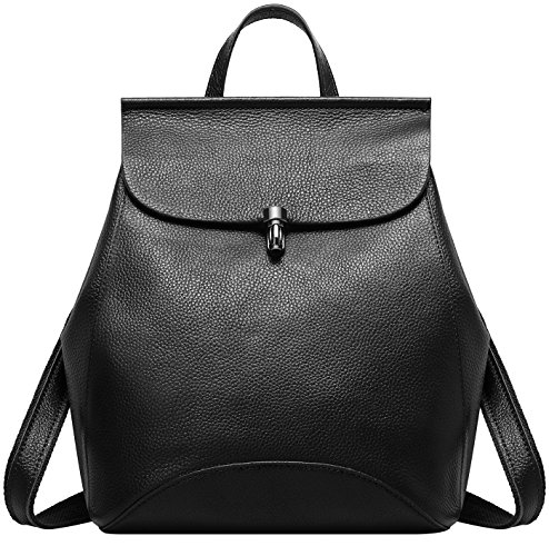 9c256a0b55 Leather For Mini With Stylish Flap Genuine Cute Black Fashion Leather Women  Backpack Daypacks Backpack Small .