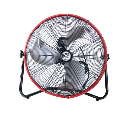 20 Inch Floor Fan : Maxxair hvff s redups shroud floor fan inch red