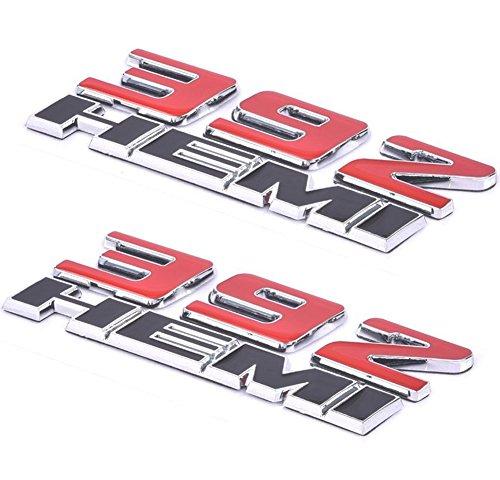 Aimoll 2pcs 392 Hemi Emblem, Badge Decal 3D Logo for Challenger Chrysle 300c (Chrome red)