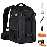 K&F Concept Professional Camera Backpack,15.6'' Laptop Large Capacity Waterproof Nylon Photography Bag for Nikon Canon Sony Pentax DSLR Cameras,Tripod,Lenses