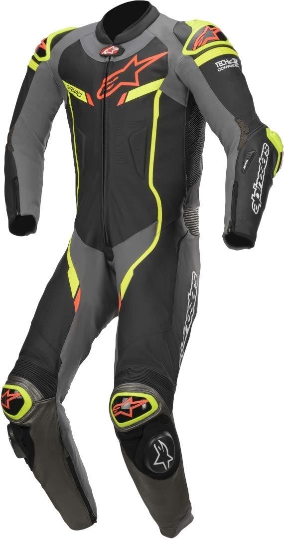 Tech Air Compatible Alpinestars GP PRO V2 Suit 1pc 50, 1062-BLACK BRIGHT GREEN