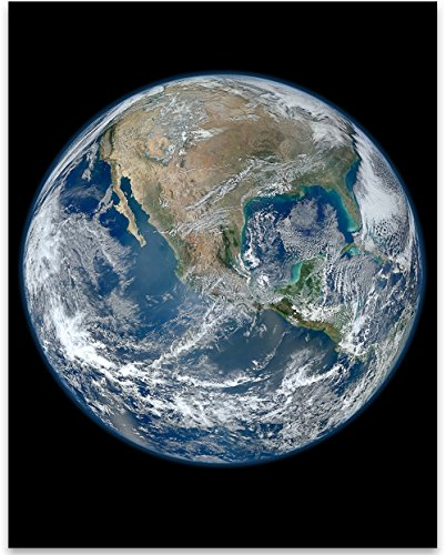 Lone Star Art Earth The Big Blue Marble Photo - 11x14 Unframed Print - Perfect Vintage House Decor ()