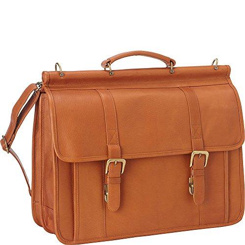 Le Donne Leather Classic Dowel Rod Laptop Briefcase, Tan by Le Donne Leather