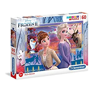 Clementoni Clementoni 26056 Supercolor Disney Frozen 2 60 Pezzi Puzzle Bambini Multicolore 26056