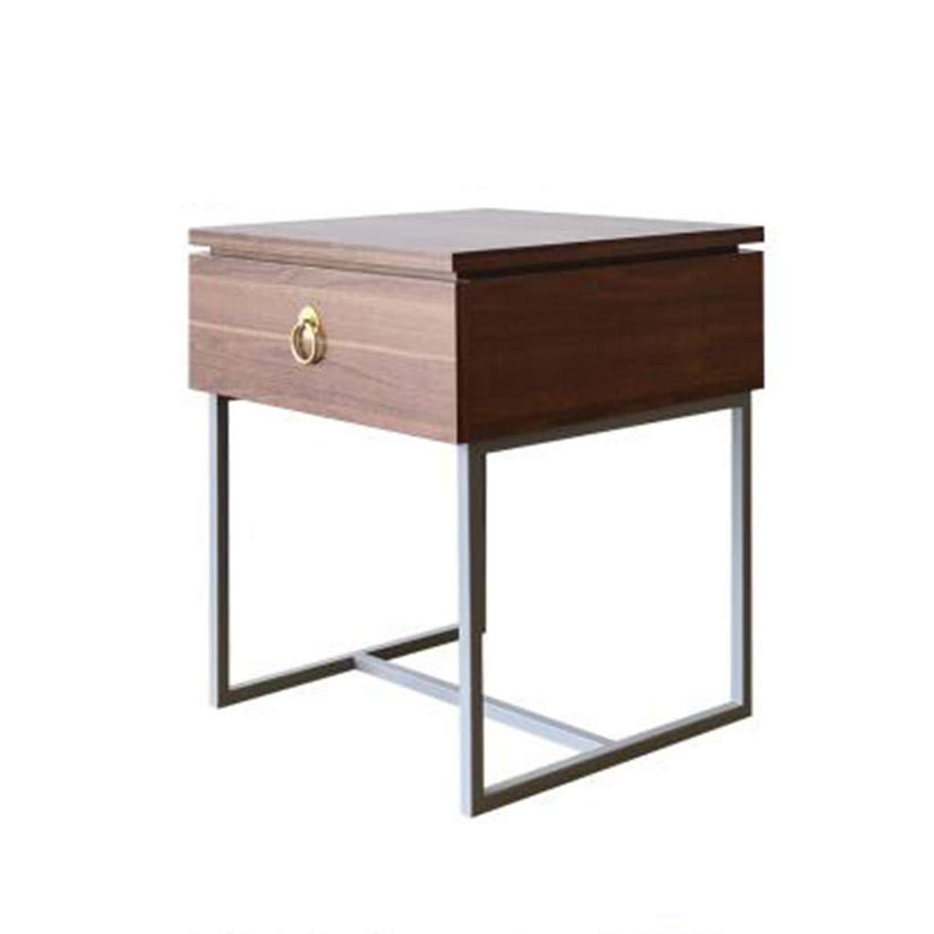 Amazon com bedside table gjm shop steel frame wood based panel with drawer bedside cabinet fashion furniture color 2 kitchen dining