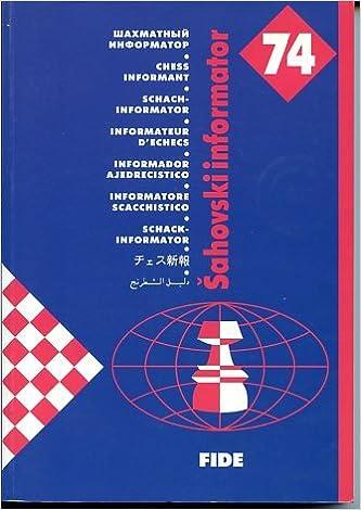 Chess Informant 74 Sahovski Informatorchess Informant Alexandr