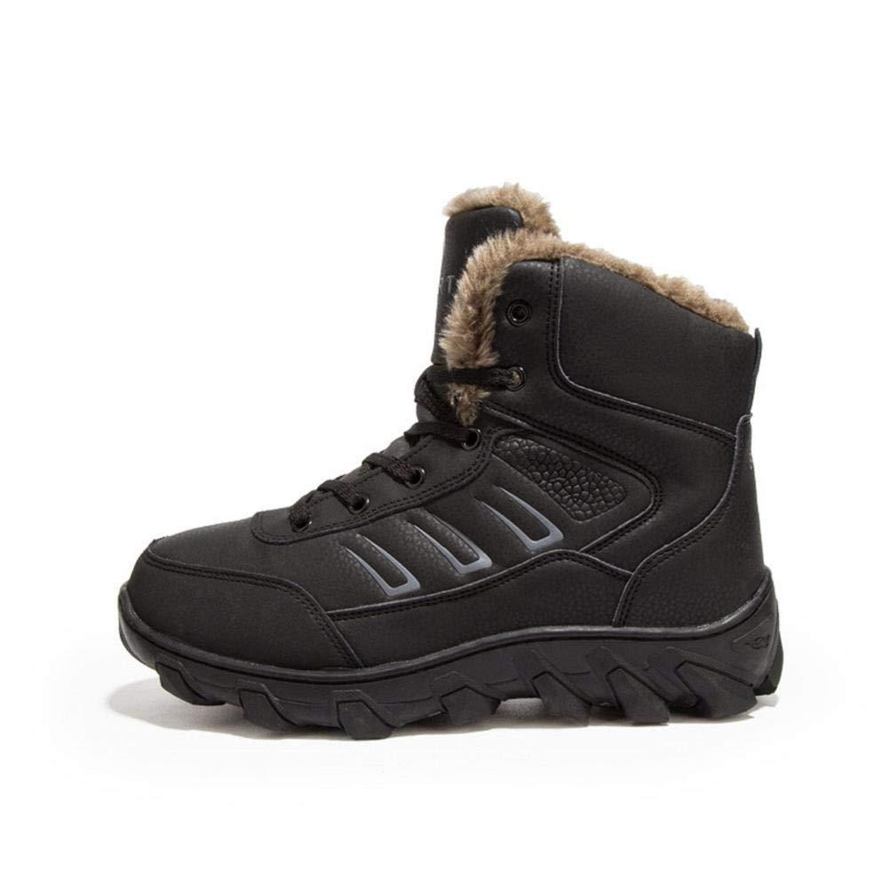NINGSANJIN Winterschuhe Mode Freizeit männer Schuh runde Kopf halten warm Rutschfeste verschleißfeste Schneeschuhe 39-46