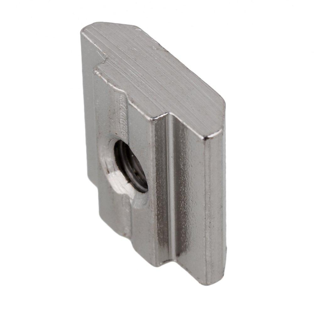 T8-Gleitmuttern aus silbernem Kohlenstoffstahl M8-Gewinde f/ür Aluminiumprofil-Extrusionsschlitz der europ/äischen Standard-30-Serie Packung mit 30 St/ück