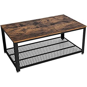 Amazon Com Vasagle Vintage Coffee Table With Storage Shelf For