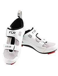 Breathable removable insole black and white male models female road bike shoes Velcro straps F-121