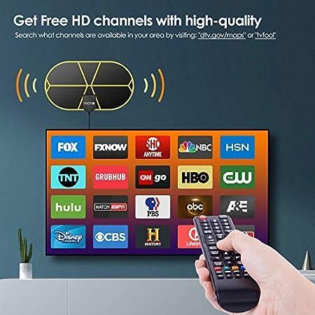 Digital TV Antenna 450 Miles Range Signal Booster Amplifier HDTV Indoor 4K 1080P