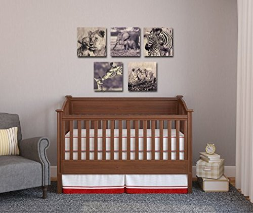 Growth Chart Art Nursery Safari Animal Wall Art Plaque, Zebra