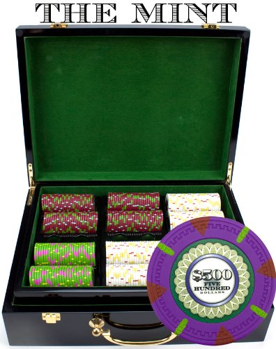 Claysmith Gaming 500-Count 'The Mint' Poker Chip Set in Hi Gloss Case, 13.5gm by Claysmith Gaming