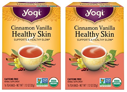 Yogi Tea Herbal Teas Cinnamon Vanilla Healthy Skin 16 tea bags (a) - 2pc